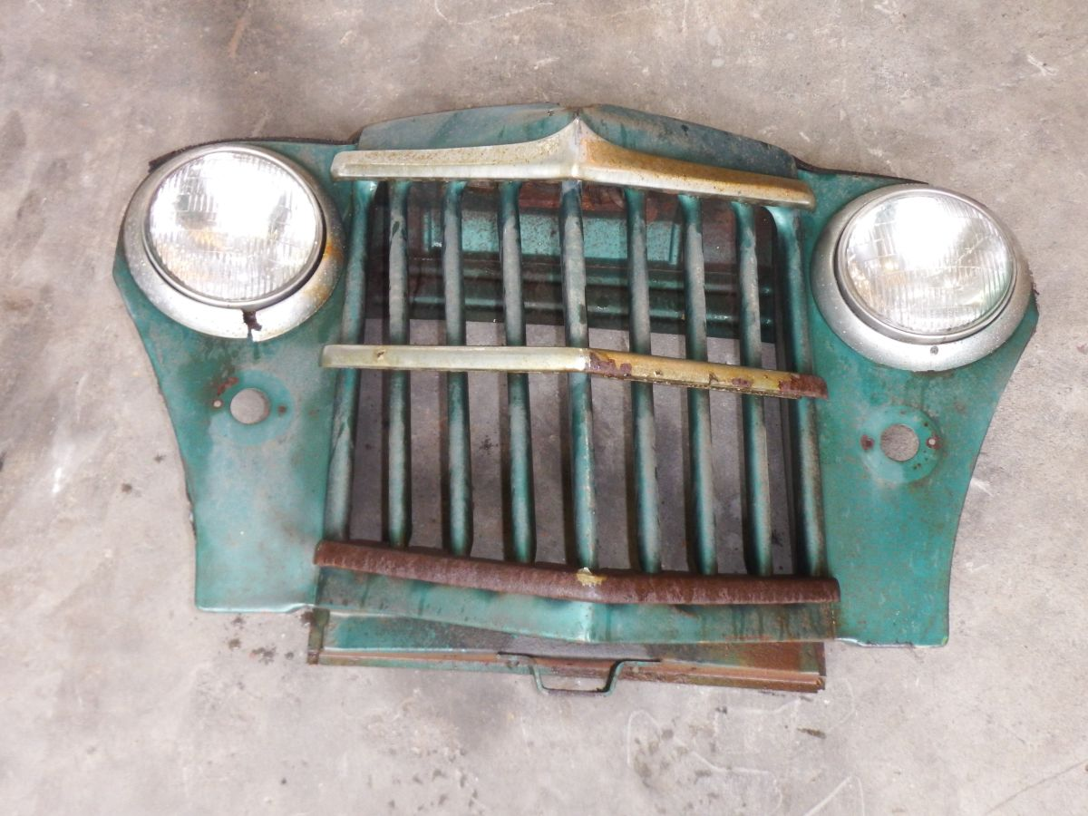 Willys Pickup Truck Wagon Wrecked Front Grille Table Wall Art Image