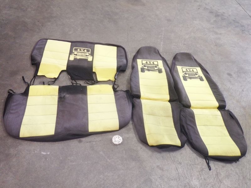 2003-2006 Jeep Wrangler Yellow Seat Covers Set Image