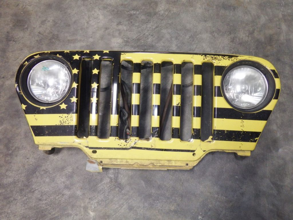 Jeep Wrangler TJ LJ Grille with Lights Yellow PYH Image
