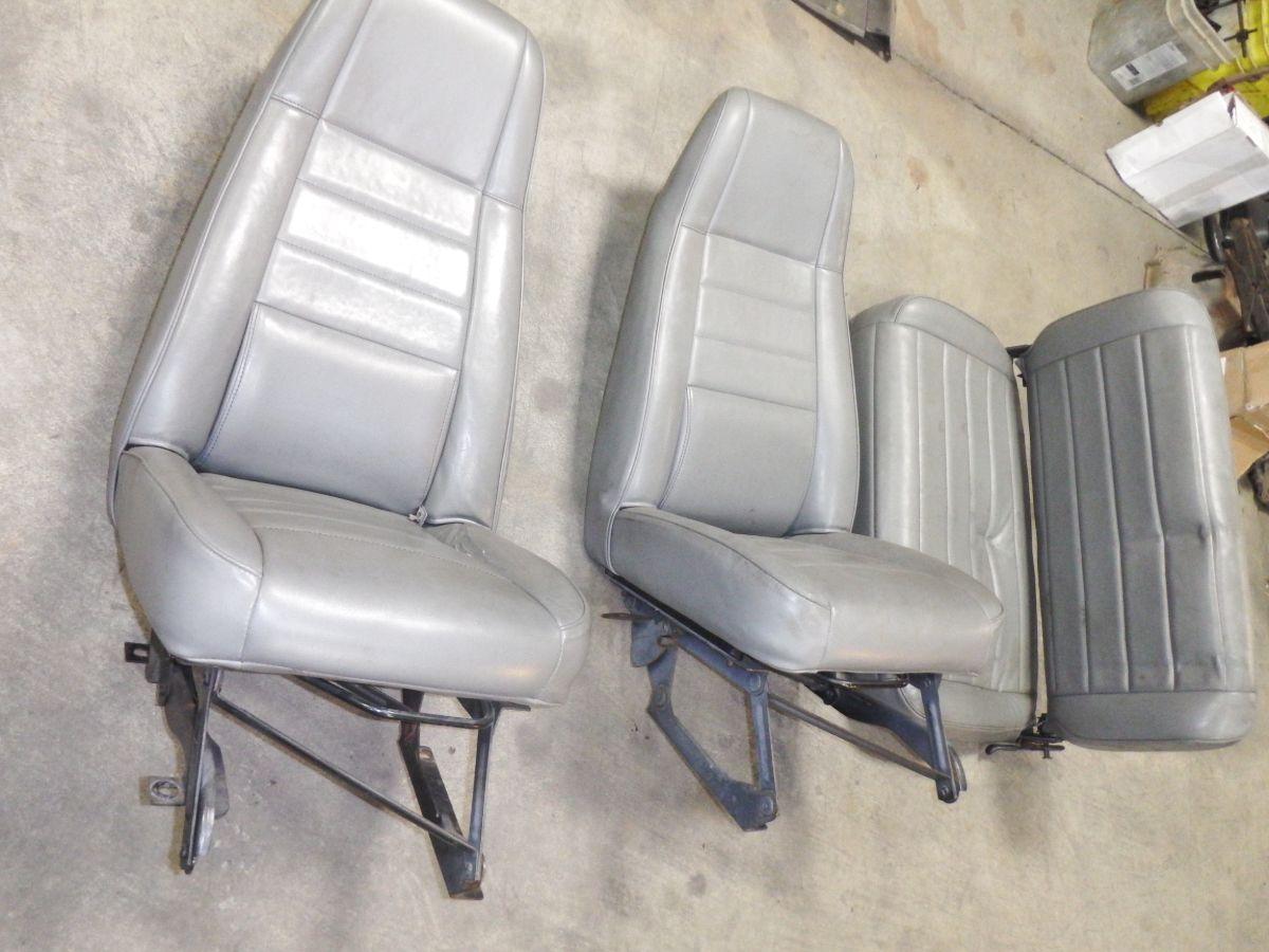 Jeep CJ YJ Gray Vinyl Seat Set of 3 300 Image