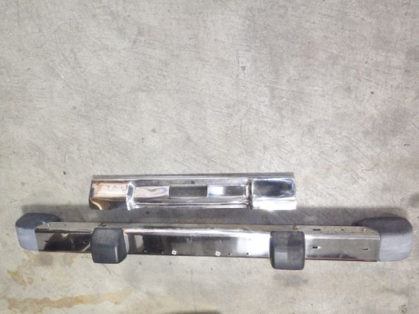 1997-06 TJ LJ Stainless Steel Front Bumper with Stainless Frame Cover Image
