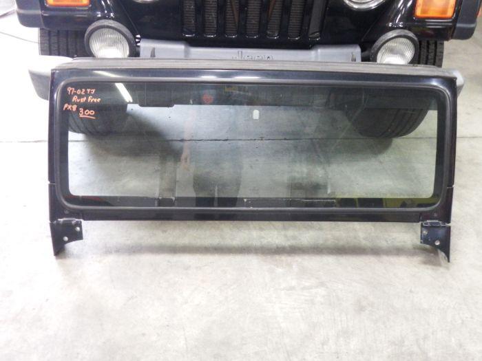 97-02 TJ Jeep Wrangler Rust Free Windshield Frame PX8 Black Image