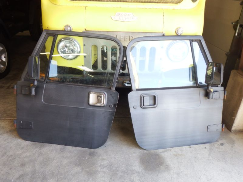 Jeep Wrangler YJ CJ-7 Full Hard Doors Rust Free Image