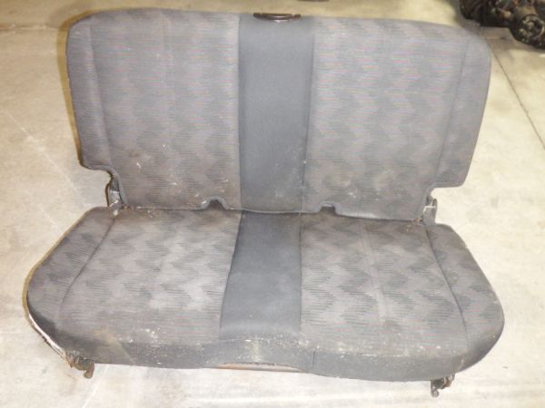 03-06 Jeep Wrangler TJ LJ Rear Seat Cloth Black Image