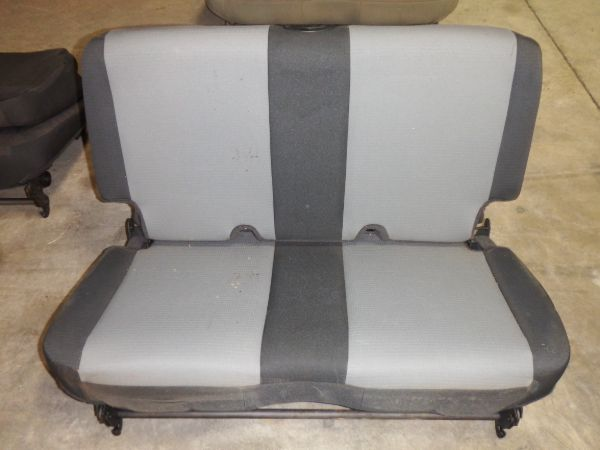 03-06 Jeep Wrangler TJ LJ Rear Seat Special Edition Cloth Black Gray Image