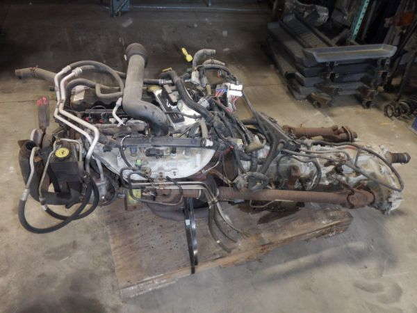 2004 Jeep Wrangler 4.0 Engine 42RLE Auto 231J Transfer Case Swap Package Image