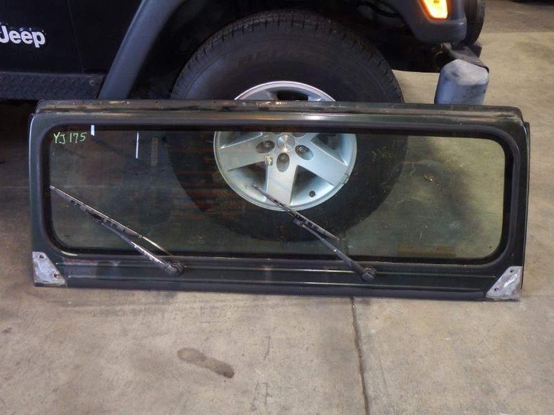 Jeep Wrangler YJ Windshield Frame with Glass, Wipers Image