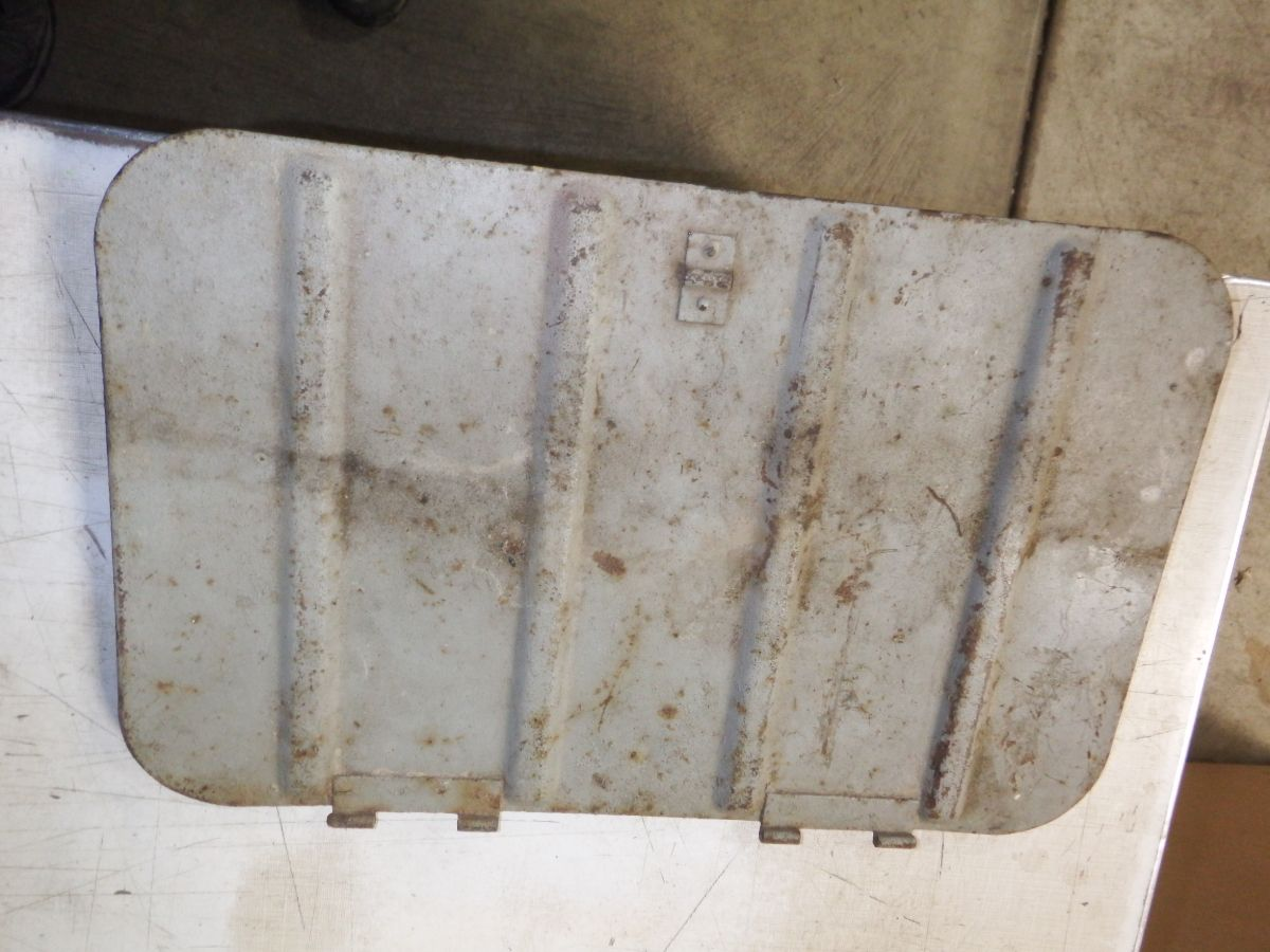 18 1/4 x 11 5/8 Willys Jeep CJ floor tool box lid door Image