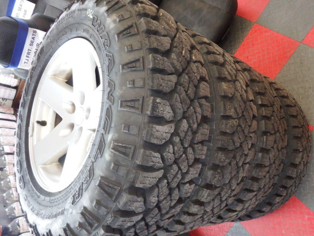 4 Jeep Wrangler TJ Rubicon Wheels Tires Image
