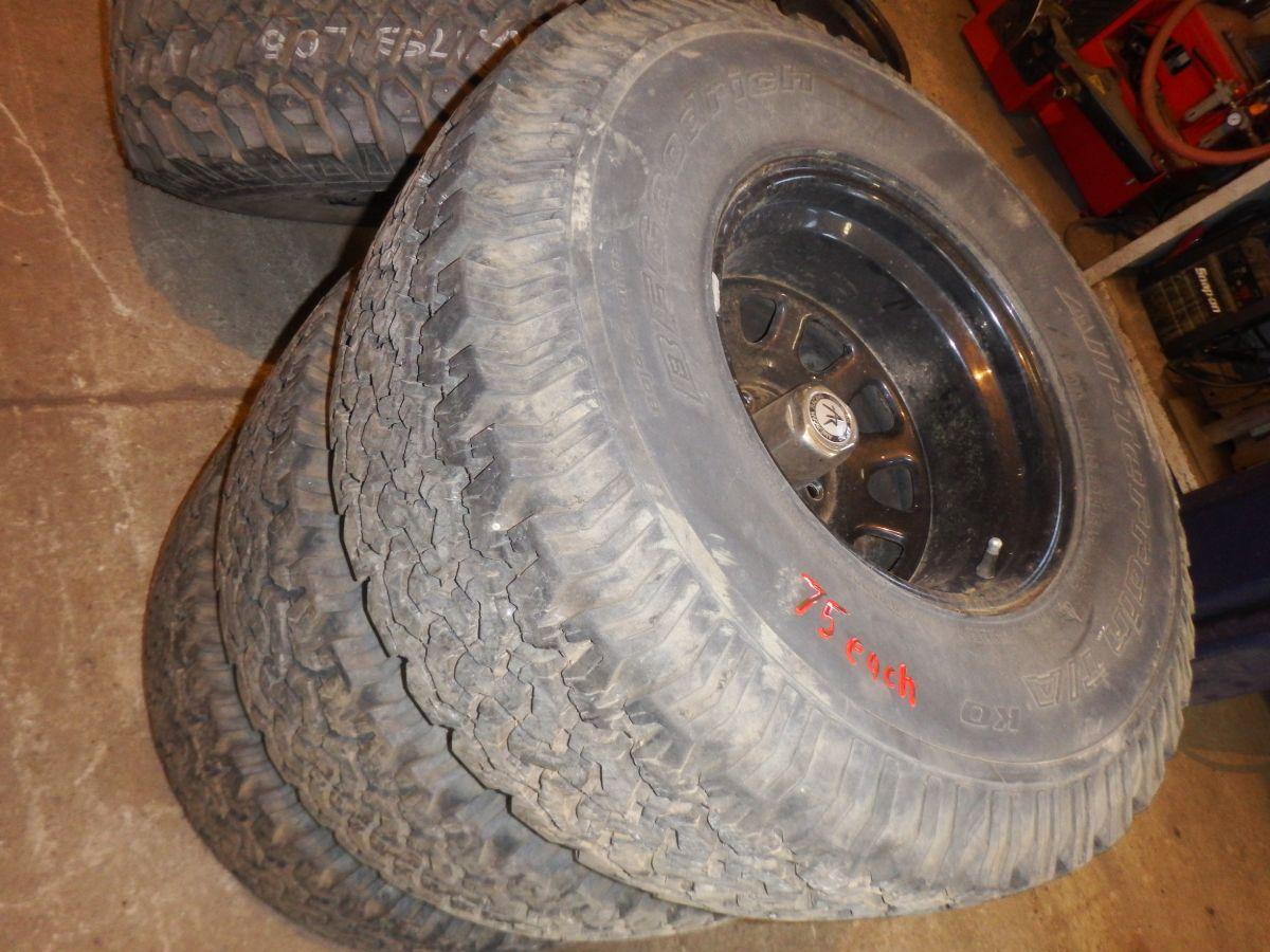 33x12.50-15 BFG All Terrain Tires Wheels Good Used $75 Each Image