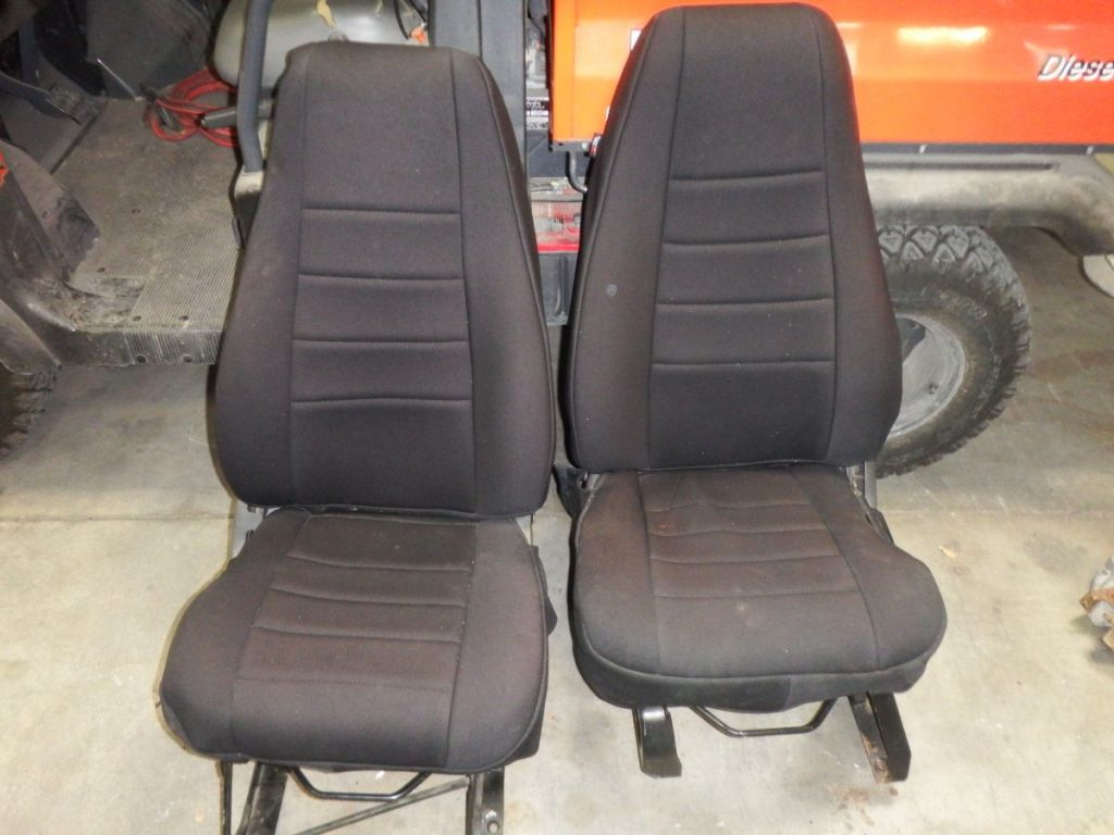 Jeep Wrangler YJ Front Seats with Brackets Seat 100 Pair Image