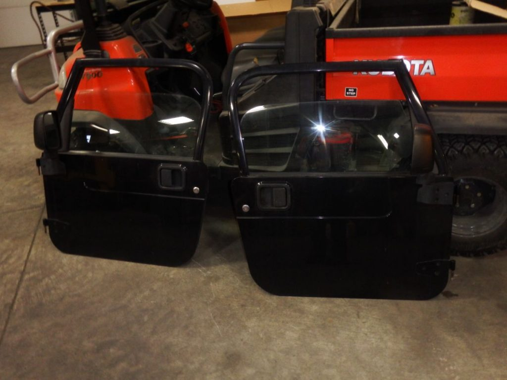 97-06 Jeep Wrangler TJ LJ Full Doors Black Rust Free with Mirrors 950 Image