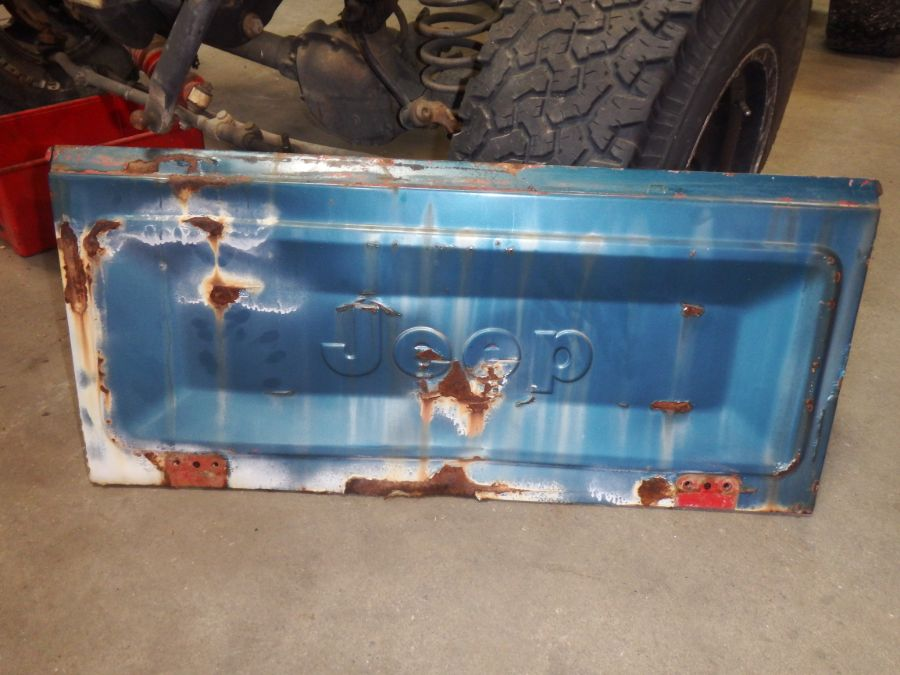 Jeep CJ Wall Hanger Tailgate Image