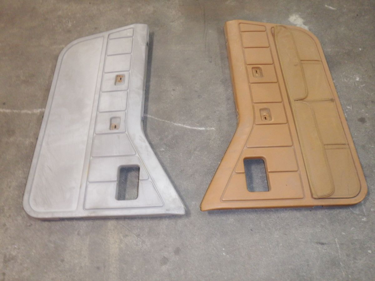 Pair Jeep Wrangler YJ Half Door Interior Door Panels 1/2 87-95 Image