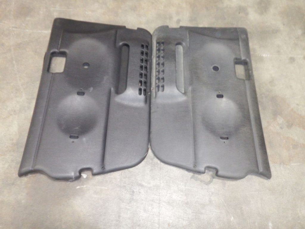 Pair JEEP WRANGLER TJ LJ GRAY FULL DOOR PANELS SCRATCHED FADED 50 Image