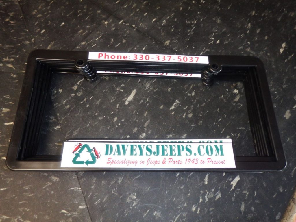 Daveys Jeeps License Plate Surrounds Image