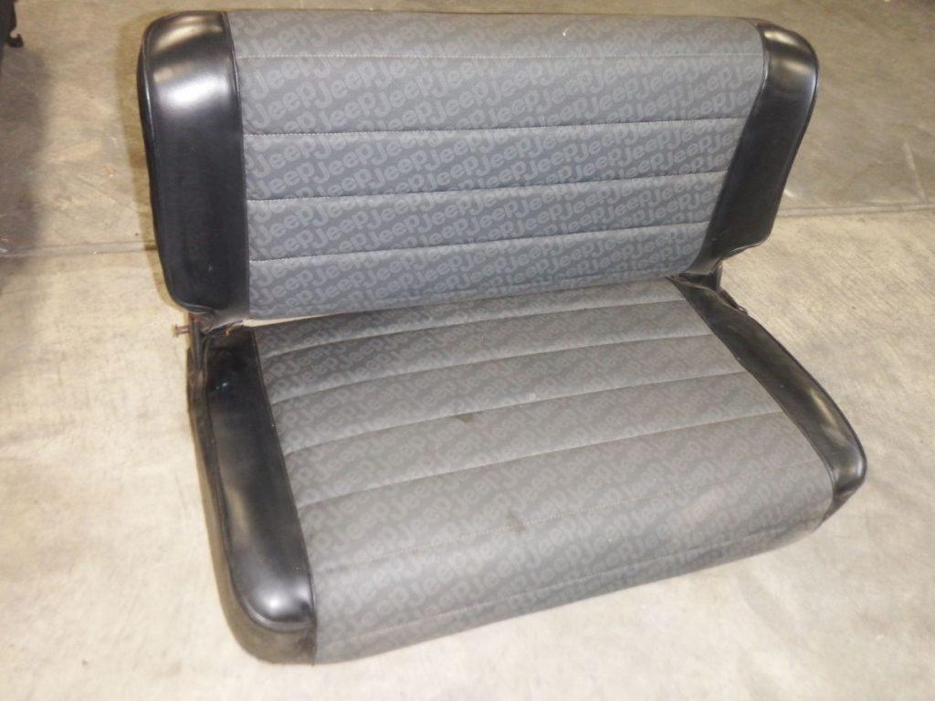 CJ YJ Rear Seat Fold & Tumble Logo Black 125 Image