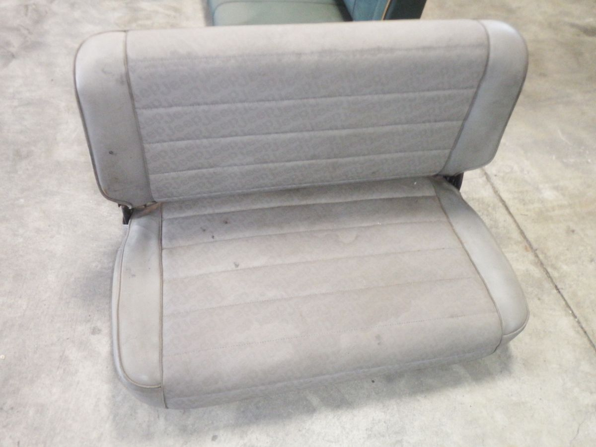 CJ YJ Rear Seat Fold & Tumble Logo Gray 50 Image