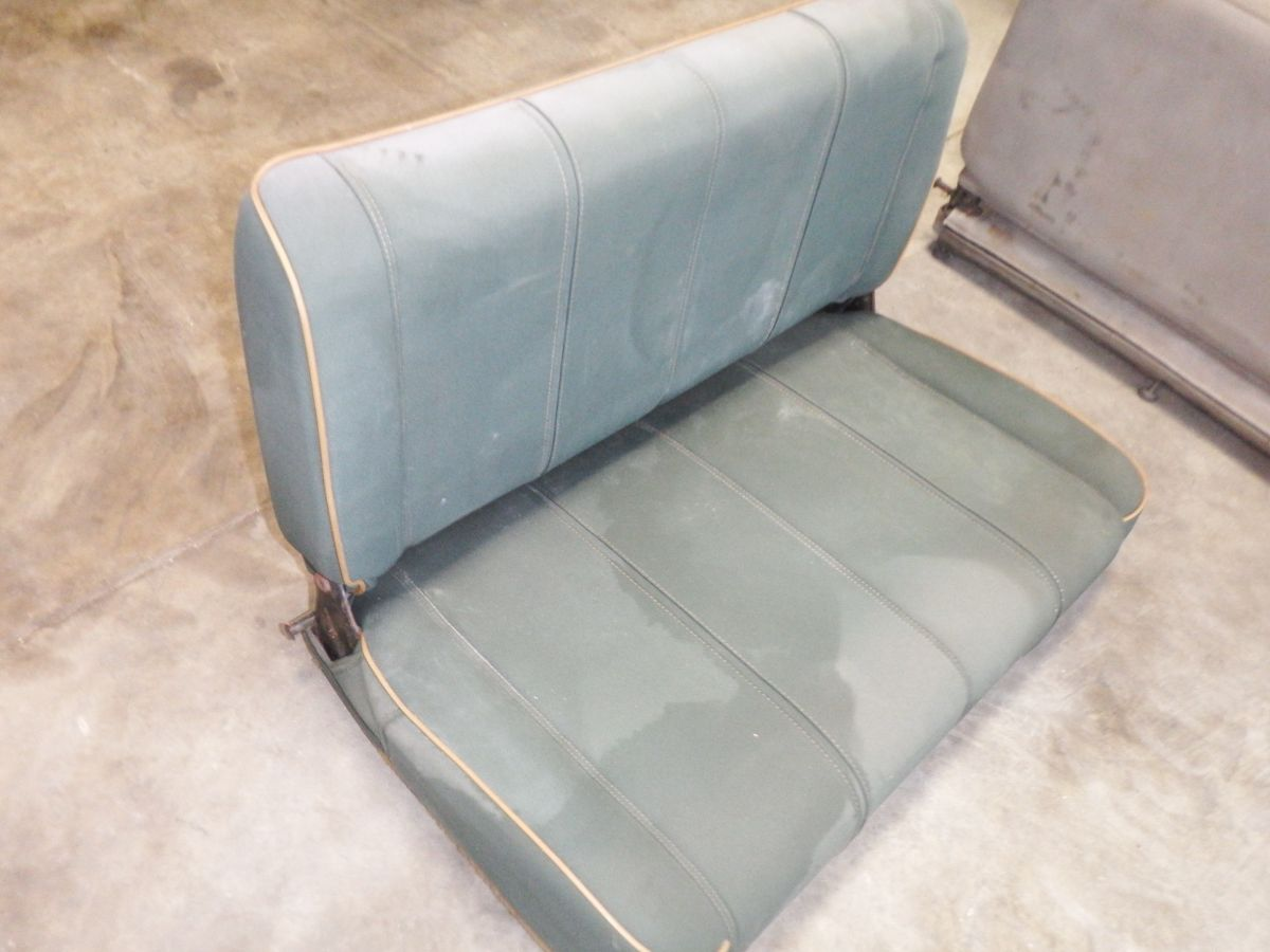 CJ YJ Rear Seat Fold & Tumble Green Tan Sahara 50 Image
