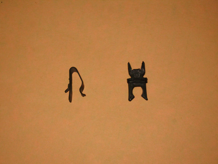 Jeep Wrangler TJ LJ Hood Prop Clips Keepers Old Style Metal Image