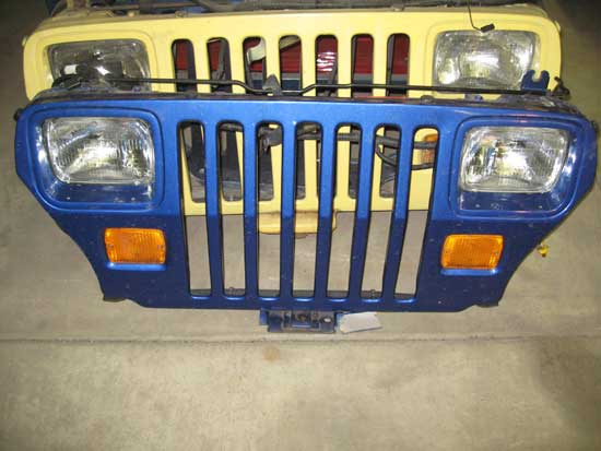 1987-95 Jeep Wrangler YJ Grille Rust Free Image