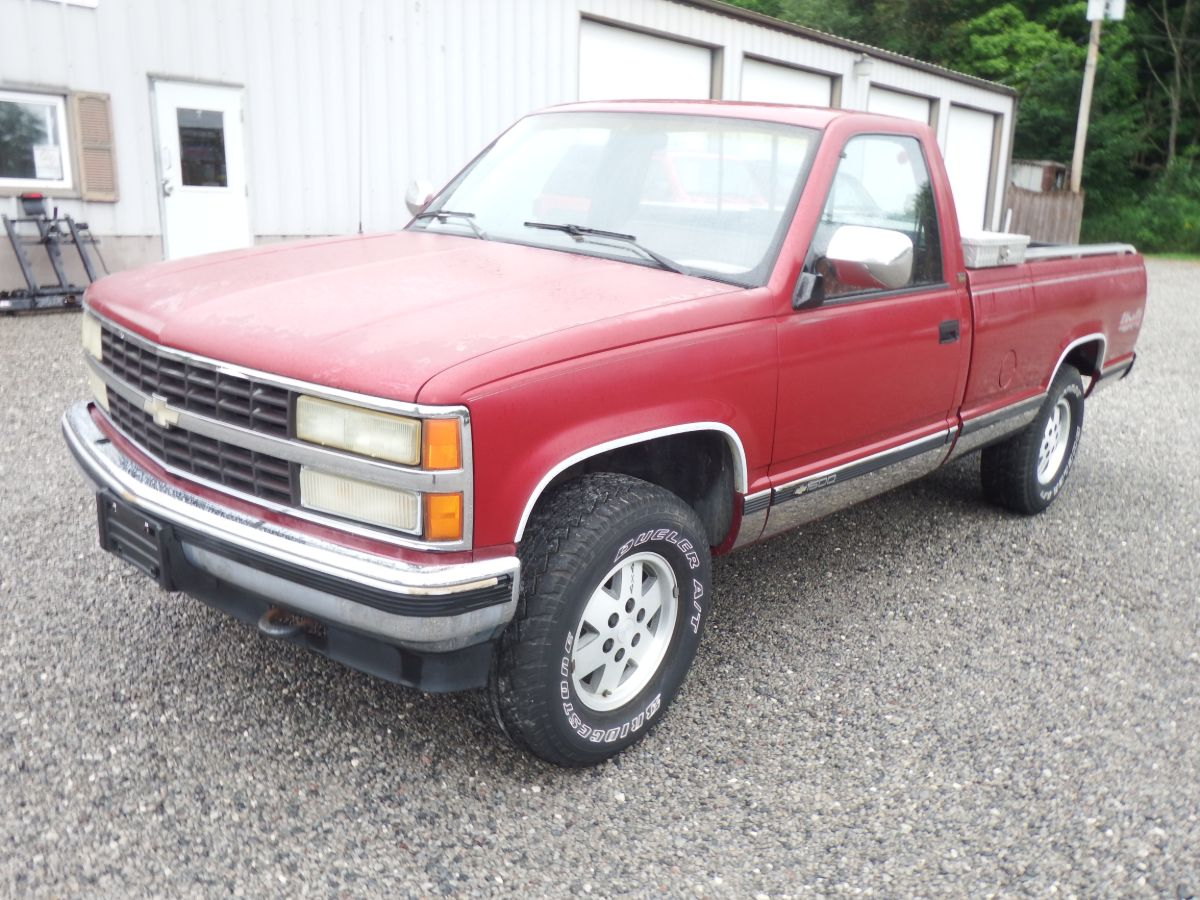 91 chevy truck red
