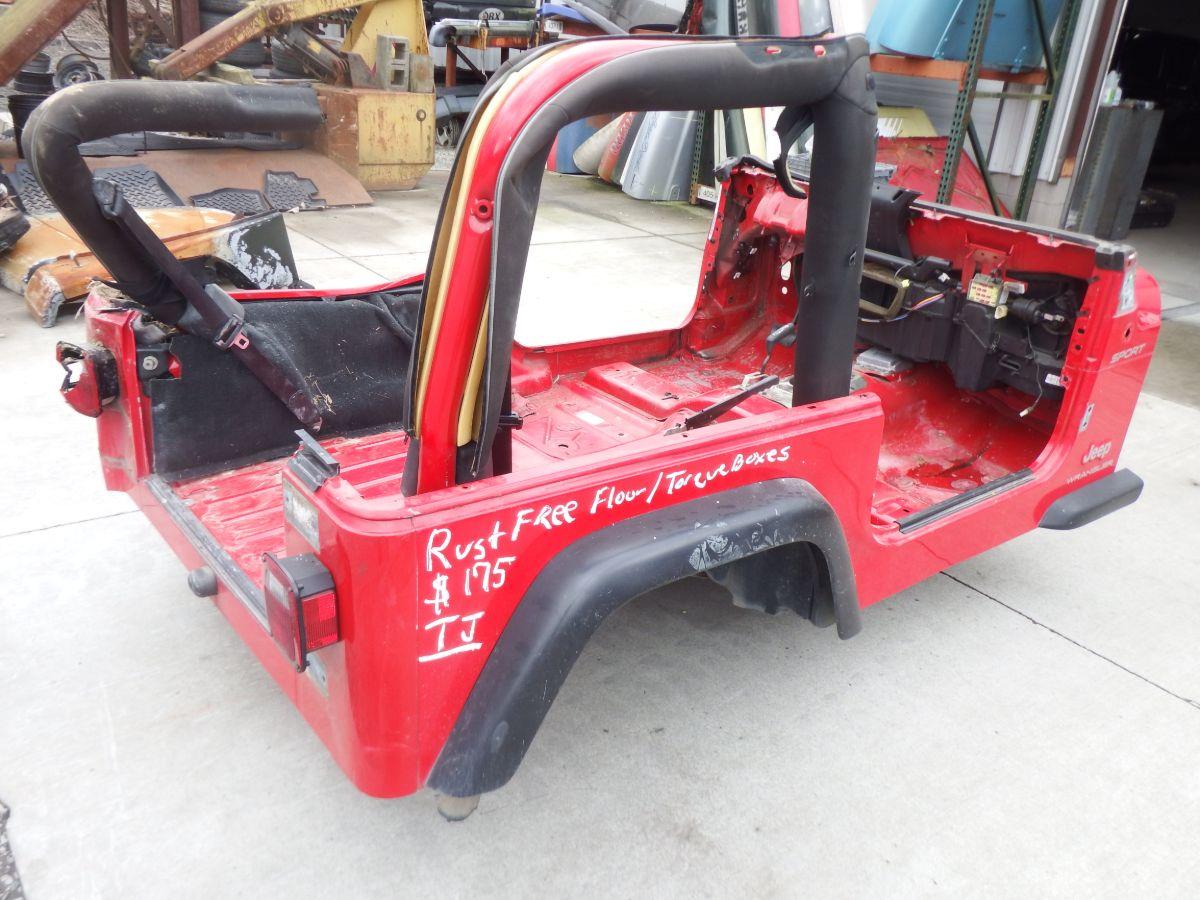 Jeep Wrangler TJ Tub Rust Free Torque Boxes Image