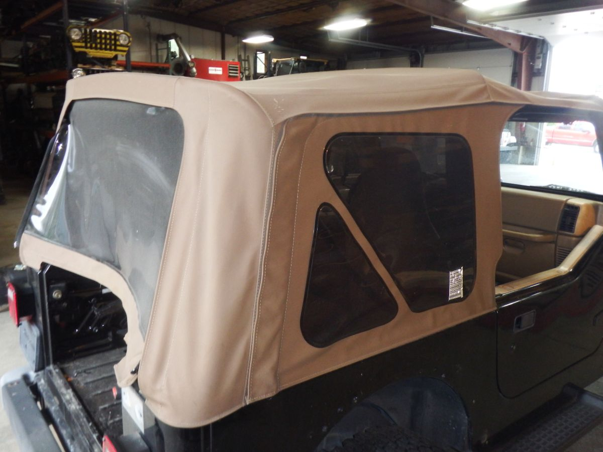 Jeep Wrangler TJ Tan Soft Top with Hardware 2018 Build Date Image