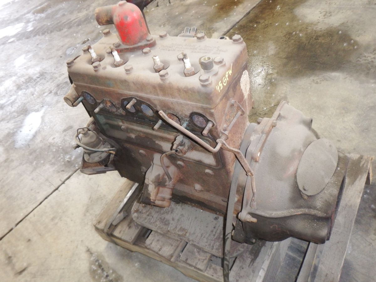 1945 Ford GPW Willys 4 Cyl. Flathead Engine, stuck from sitting many years Image