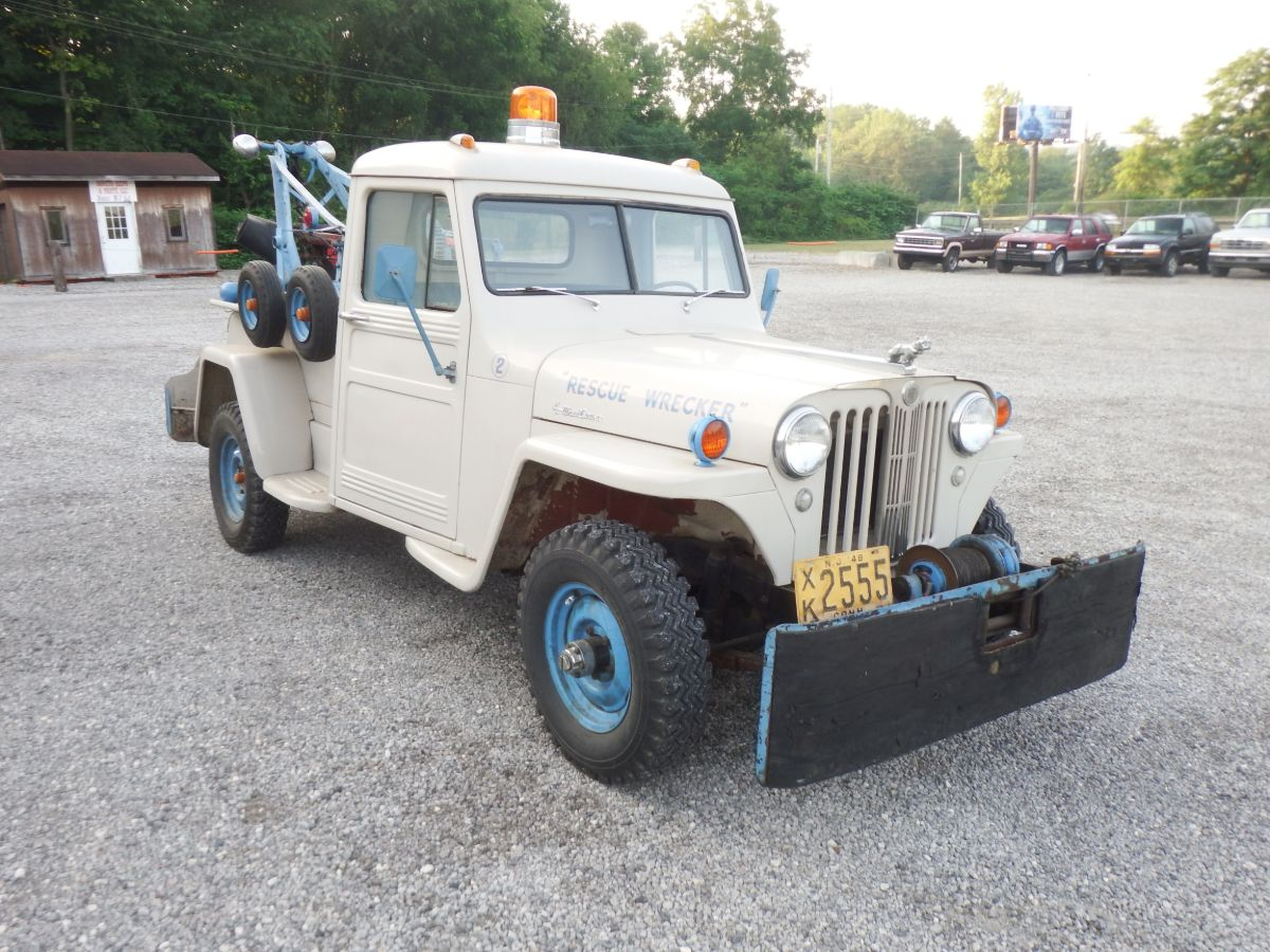 1948 Willys Pickup Wrecker Tow Truck