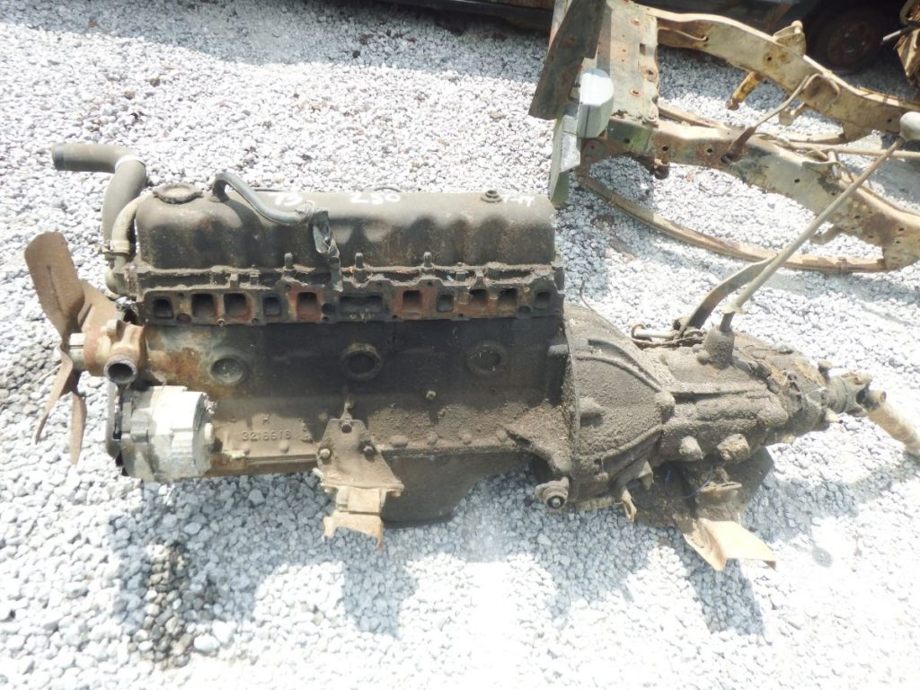 1973 CJ Inline 6 Engine, T14 3 Spd Transmission, Dana 20 Transfer Case Image