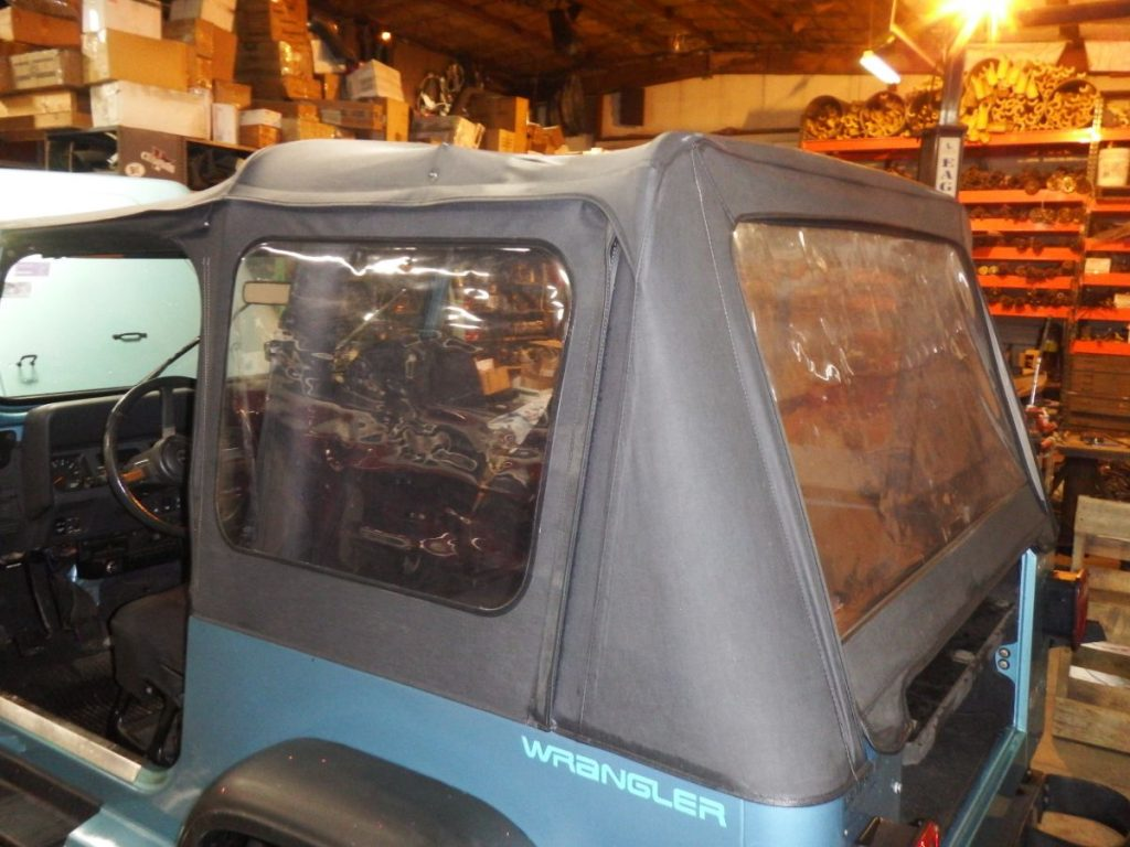 Jeep Wrangler YJ OEM Soft Top with Hardware 250 Image