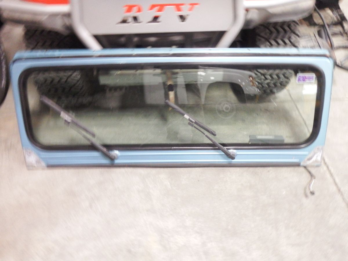 Jeep Wrangler YJ Windshield Frame Good Glass Wipers 200 Aqua pqe Image