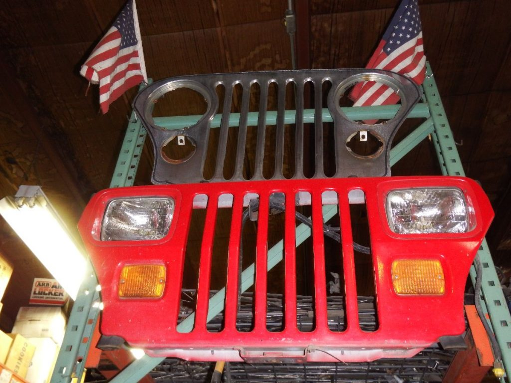 YJ Jeep Wrangler Grille Rust Free Red Image