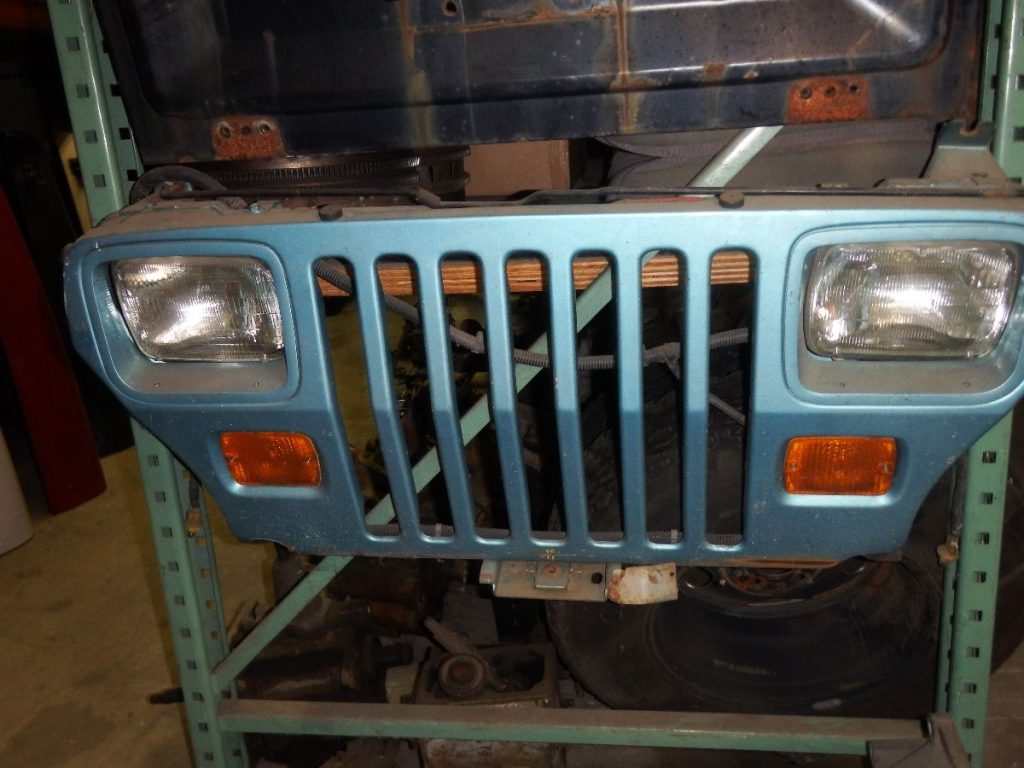 YJ Jeep Wrangler Rust Free Grille Aqua Blue Image