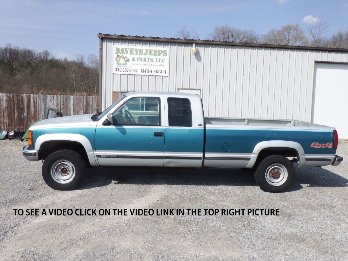 1994 GMC K2500 3/4 Ton Extended Cab Long Bed 4×4 Turbo Diesel