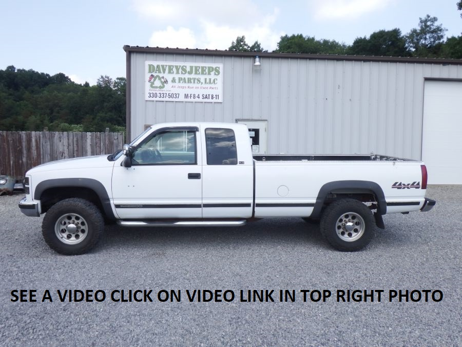 1996 GMC K2500 HD 3/4 Ton 4×4 Extended Cab Long Bed
